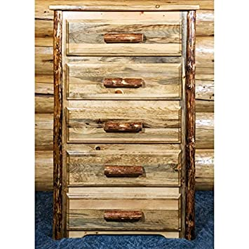 Montana Woodworks MWGC5D Glacier Country Collection 5 Chest of Drawers, Stain and Lacquer
