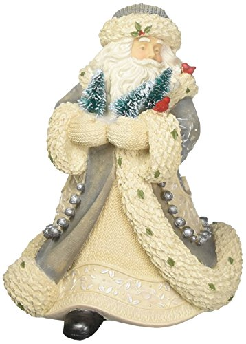 Foundations Winter Woodland Santa Stone Resin Figurine, 7.5
