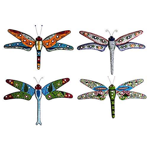 - Cape Craftsmen Hand Painted Metal Boho Dragonflies, Set of 4