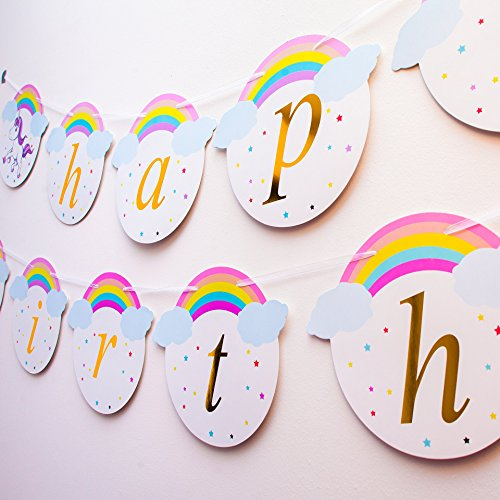 Keira Prince Happy Birthday Banner Magical Rainbow And