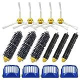LOVE(TM)Replacement 4 Aero Vac Filter+3 set Beater Brush+5 side Brush kit for Robot 600 Series 610 620 625 630 650 660