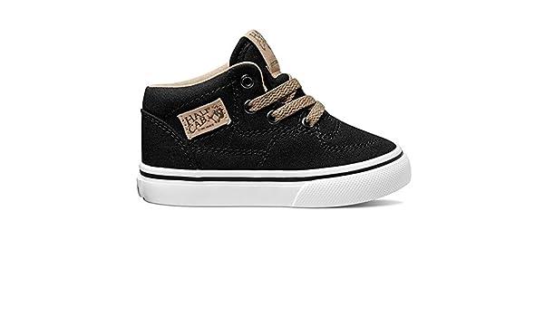Half Cab (Veggie Tan) Fashion Sneakers Black/True White Size 3 Toddler Vans