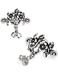 316L Stainless Steel Antique Floral WildKlass Cartilage Cuff Earring