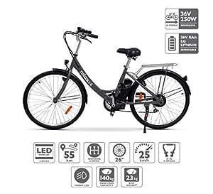Nilox 30NXEB266V001 Bicicleta, Unisex Adulto, Negro, Talla Única