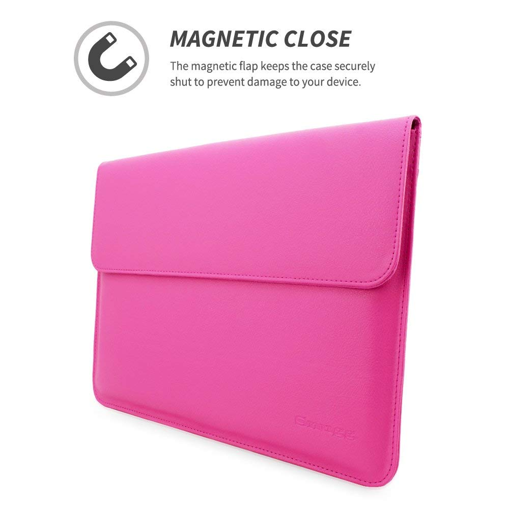 MacBook 12 Sleeve, Snugg - Hot Pink Leather Sleeve Case Protective Cover for MacBook 12 by Snugg (Image #2)