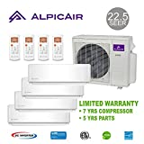 AlpicAir +Multi Quad Zone Ductless Mini-Split System 36,000 BTU Inverter Heat Pump (9k+9k+12k+12k)