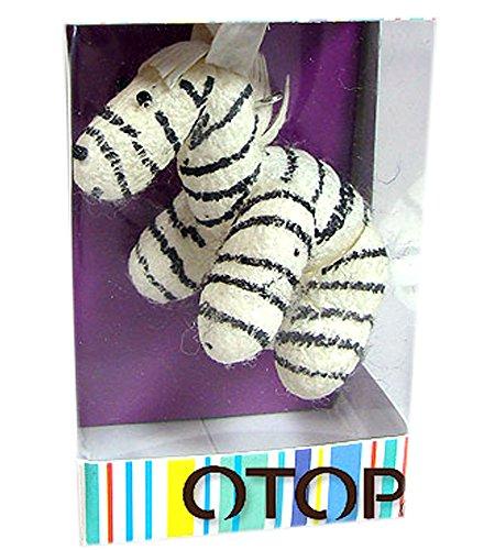 Cute Zebra Natural Silkworm Cocoon Doll Keychain handmade.