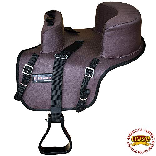 HILASON Buddy Child Seat for Horse Saddle Riding Turquoise/Black/Brown/Purple (Brown)