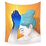 "Society6 Fire Hands Wall Tapestry Large: 88"" x 104"""