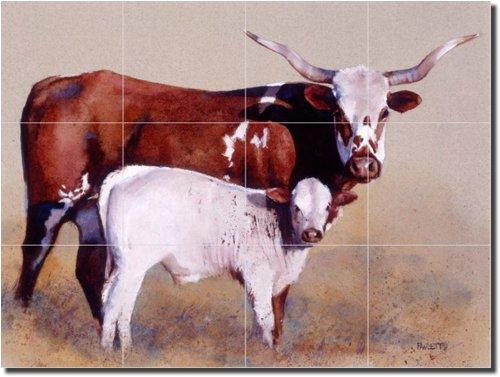 ''Mother and Child Reunion'' by John Fawcett - Artwork On Tile Ceramic Mural 18'' x 24'' Kitchen Shower Backsplash by Artwork On Tile (Image #1)