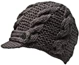 Nirvanna Designs CH211 Equestrian Knit Visor with Fleece, Dark Grey