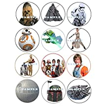 Star Wars : Edible Cupcake Toppers Birthday Premium Frosting Sheets