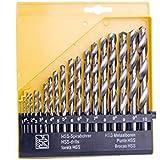 Agile-shop 19pc Twist High Speed Steel Drill Set Drilling Bit Metal Metric Tool 1mm to 10mm