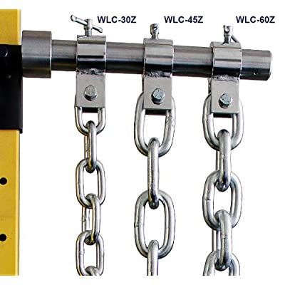 Image of Ader Sporting Goods Weight Lifting Chain Set- 30 Lb Zinc w/Chrome Collars