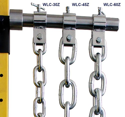 Ader Fitness Weight Lifting Chain Set- 60 Lb Zinc w/ Chrome Collars by Ader Sporting Goods