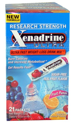 Xenadrine Ultra rapide New Weight Loss-Fruit Punch - 21 paquet (s)