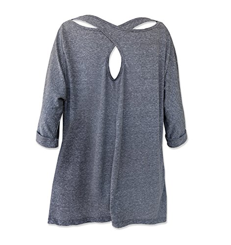 TeeMixed Women Cross Back Flowy Loose T Shirt Tee