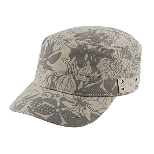 Womens Mao Cap UV Sun Protection - Military Style Floral Print