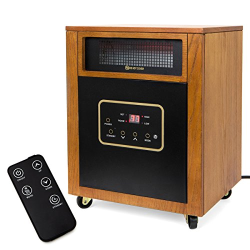 XtremepowerUS 1500W Portable Space Heater w/ Remote Infrared Heaters