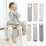 6-Pack Baby Socks Animal Bunny Bear Cotton Over