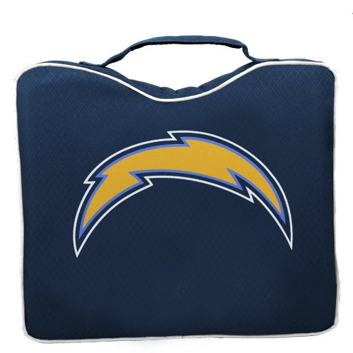 NFL Lightweight Stadium Bleacher Seat Cushion with Carrying Strap, San Diego Chargers