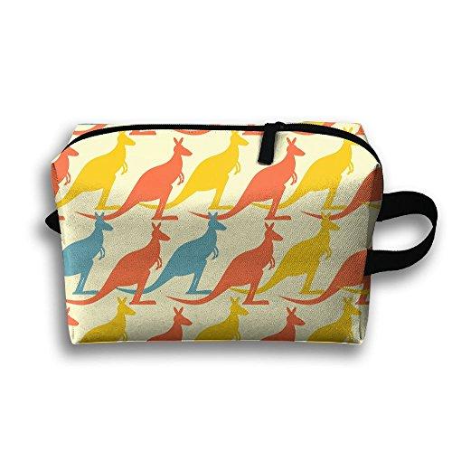 Kangaroos Pattern Travel Bag Toiletry Receiving Bag Multifunctional Bag With Hanging - Coronado Hanging