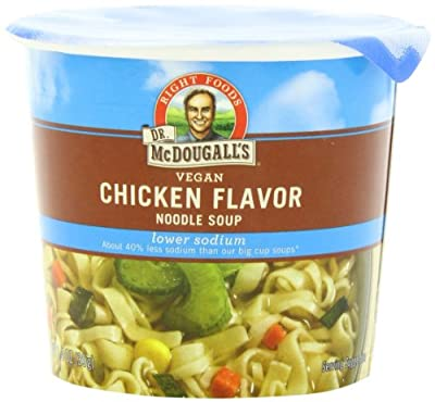 Dr. McDougall's Right Foods Vegan Chicken Flavor Noodle Soup, Light Sodium, 1.4-Ounce Cups (Pack of 6) from Dr. McDougall's Right Foods