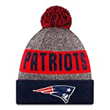 YOUTH (8-18 YRS) Authentic NFL Football Beanie Hats 2016 New Era Official Sideline On Field Junior Sport Knit Cap Team Color Unisex For Boys & Girls (One Size, New England Patriots)