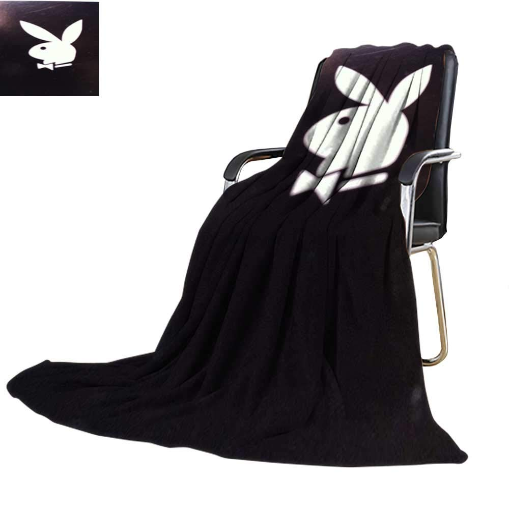 Wearable Blanket,Playboy Bunny Black All Weather 60