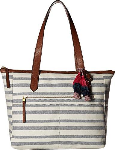 e Bag, Blue Stripe,One Size (Fossil Slip Tote)