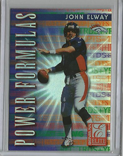 1999 Donruss Elite Football John Elway Power Formulas Ins...