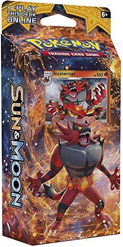 Pokemon TCG: Sun & Moon - Incineroar Roaring Heat Theme Deck   Full Ready to Play Deck of 60 Cards   Includes Cracked Ice Holofoil Version of Incineroar Plus Deck Case, Litten Metallic Coin & More