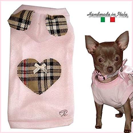 puperina S Chihuahua de perro abrigo Jersey sudadera con capucha con orejas para perros pequeños hecho a mano: Amazon.es: Productos para mascotas