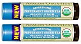 Avalon Naturals Refreshing Peppermint Green Tea Organic Lip Balm (Pack of 2)