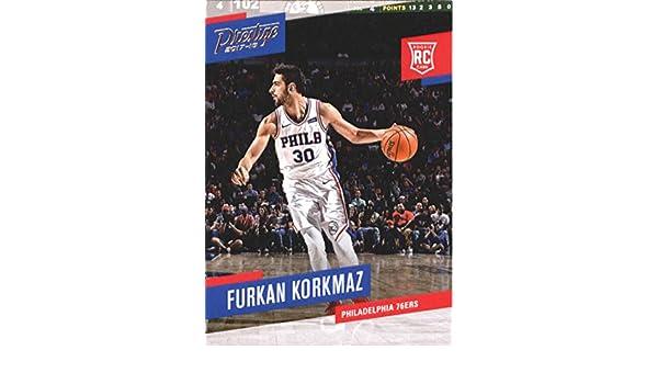 Amazon.com  Basketball NBA 2017-18 Panini Prestige  196 Furkan Korkmaz  196  Rookie NM+ 76ers  Collectibles   Fine Art f0a6a7b08