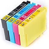 Compatible Epson Stylus SX130 Ink Cartridges 1X Black 1X Cyan 1X Magenta 1X Yellow (4-Pack)