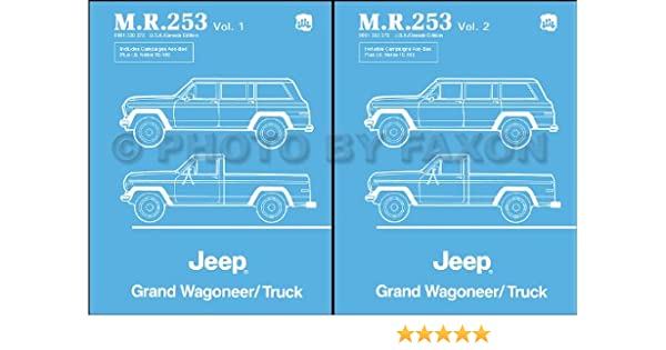1984-1988 Jeep Grand Wagoneer J10 J20 Truck Repair Shop