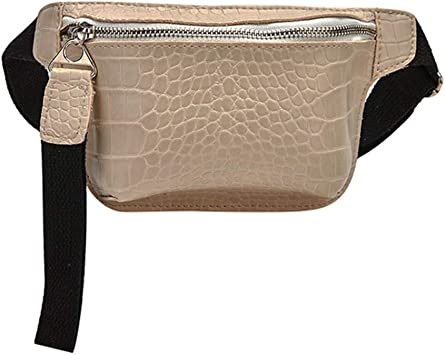 DONG Belt bagWaist Bag for Women Chest Bag PU Leather Fanny Pack Phone Pouch Chest Packs Ladies Wide Strap Belt Bag Female Crossbody Bag Beige: Amazon.es: Equipaje