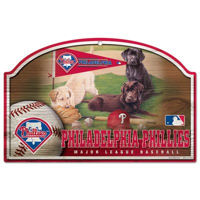 MLB Philadelphia Phillies 11-By-17-Inch Killen Print Wood Sign ()