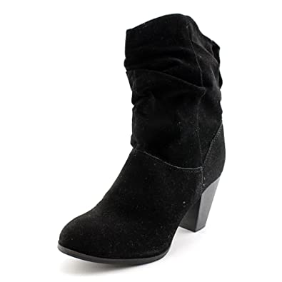 d1fa41483e6 Rampage Womens Trixen Suede Round Toe Cowboy Boots