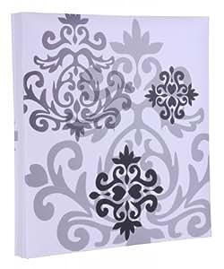 HENZO inserción Album 'Baroque' blanco - para Fotos 10 x 15 cm hasta 400 - 80 hojas negras - álbum de Fotos de plástico - álbum de Fotos - álbum de inserción