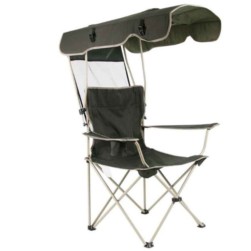 屋外ポータブル折りたたみ椅子取り外し可能な天幕厚いスチールダブルオックスフォード釣りのビーチの天幕キャンプチェア (色 : A)   B07HDP1J7Z