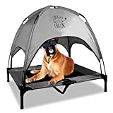 Floppy Dawg Just Chillin' Elevated Dog Bed | Dog Cot Comes with Removable Canopy | Can Be Used Indoors or Outdoors and is Lightweight and Portable | Have Your Dog Chill in Style
