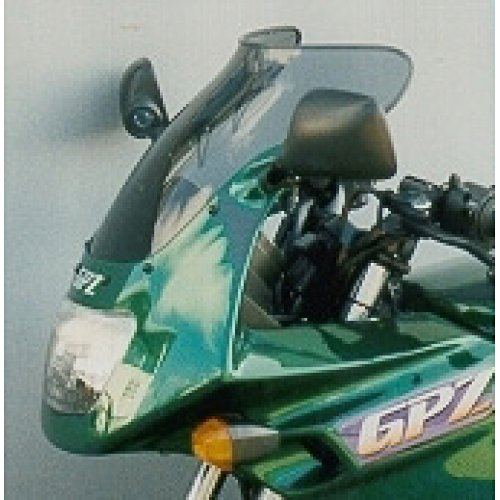 Mra Spoilerscreen Windshield (MRA SpoilerScreen Windshield for Kawasaki EX500 Ninja/GPZ500S, 94- (SHADOW LINE BLACK))