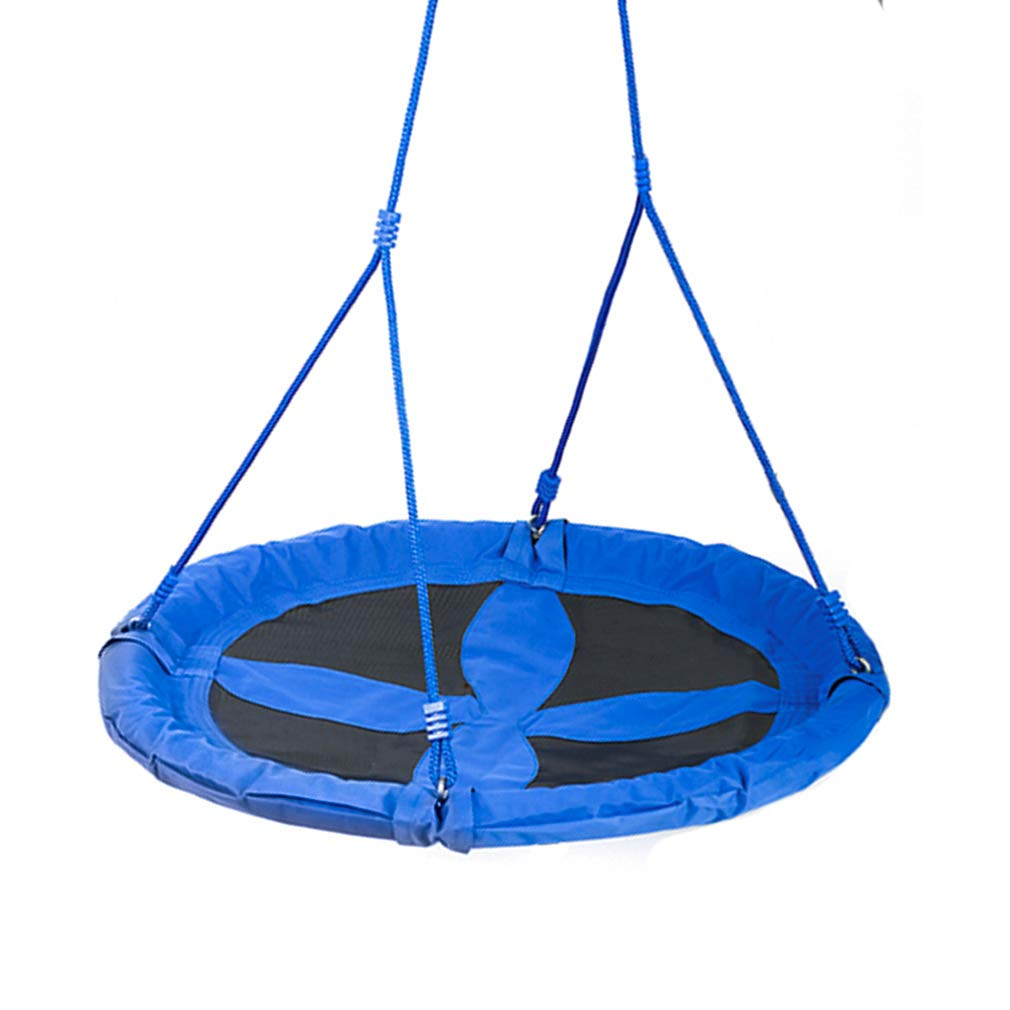 BestMassage Swing Children Swing Set 40 Inch Saucer Tree Swing Seat Height Adjustable Nylon Rope with Padded Steel Frame