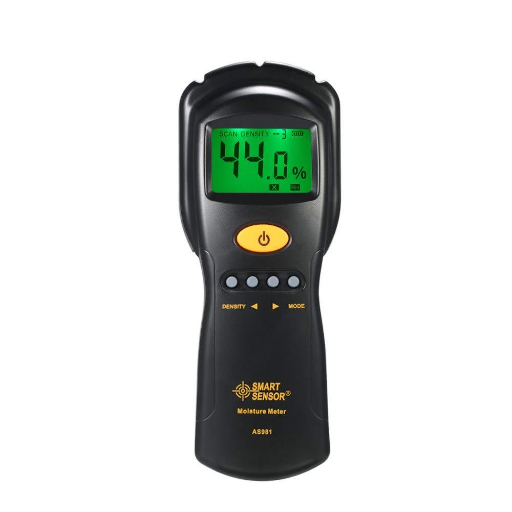 Digital hygrometer Moisture Meter for wood/cardboard Lumber Humidity Tester Fast & Precise Microwave Measurement LCD display by SMART SENSOR (Image #3)
