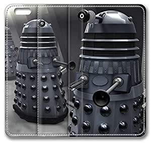 TV Shows Dalek Doctor Who Leather Cover for iPhone 6 Plus 5.5 inch(Compatible with Verizon,AT&T,Sprint,T-mobile,Unlocked,Internatinal)