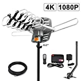 2019 Version HDTV Antenna Amplified Digital Outdoor Antenna -150 Miles Range-360 Degree Rotation