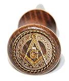 Genuine Texas Brand Custom Masonic Square and Compass wine bottle stopper