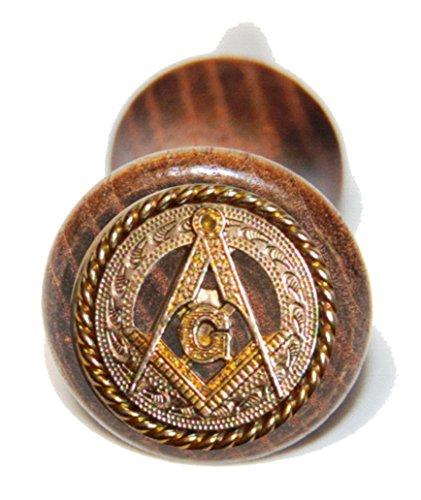 (Genuine Texas Brand Custom Masonic Square and Compass wine bottle)